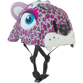 Crazy Safety Leopard Fietshelm Kinderen roze/wit